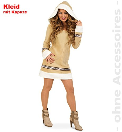 Unbekannt Eskimofrau Kostüm Damen Eskimokostüm Inuit Damenkostüm