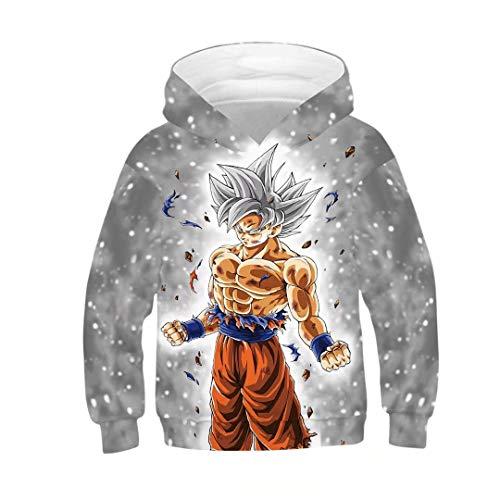 Boys Girls Anime Dragon Ball Z Goku Symbol Hoodies Sweatshirt Costumes