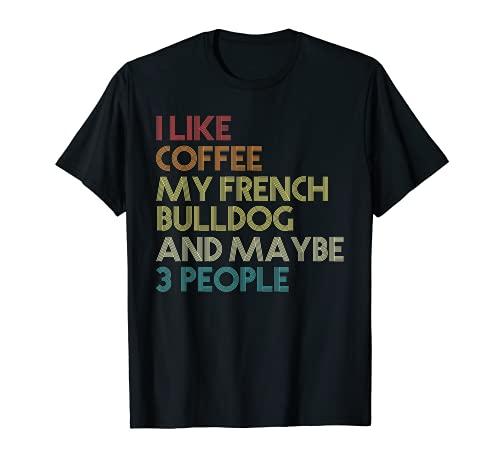 Bouledogue Français Cane French Bulldog Dog Caffè Vintage Maglietta