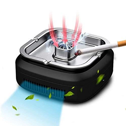 HJFGSAK Aschenbecher Luftreiniger Wiederaufladbarer Multifunktions-Aschenbecher Luftfilter Mini-Auto-Frischfilterreiniger Aschenbecher, Typ 1