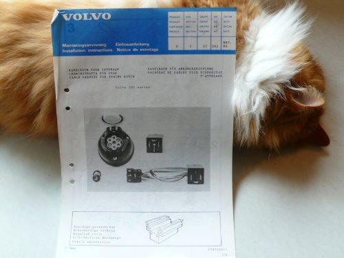 Volvo 300 series Einbauanleitung – Kabelbaum für Anhängerkupplung – Original