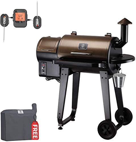 Z GRILLS ZPG-450APRO 2021 Upgrade Holz Pellet Grill & Smoker 8 in 1 BBQ Grill Auto Temperaturkontrolle 450 m² in Bronze