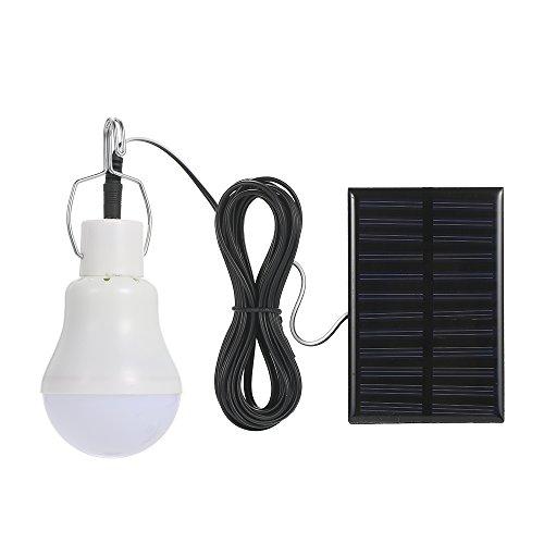 Galapara Portátil LED Bombilla de Solar Energía, Panel Solar Diseño Colgante IP44 Resistencia al Agua Portable 800MAh Batería Recargable de Alta Capacidad para Senderismo de Emergencia Pesca Camping