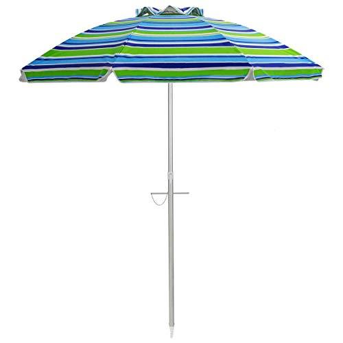 Sombrillas De Playa Al Aire Libre, Sombrilla Plegable para Mesa De Jardín con Ancla De Arena Sombrilla Portátil para Exteriores Ideal para Jardín Playa Al Aire Libre