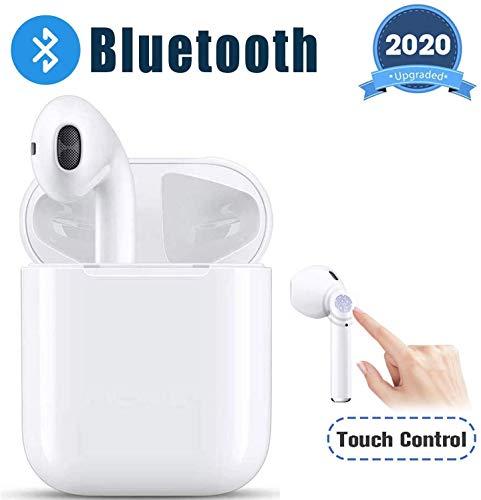 [Bluetooth 5.0 e suono stereo 3D] Grazie alla nuovissima tecnologia Bluetooth 5.0, gli auricolari hanno ritardi minori, consumano di meno, la connessione è più stabile. La qualità suono è migliorata per poter godere di un suono stereo 3D. Ti porta in...