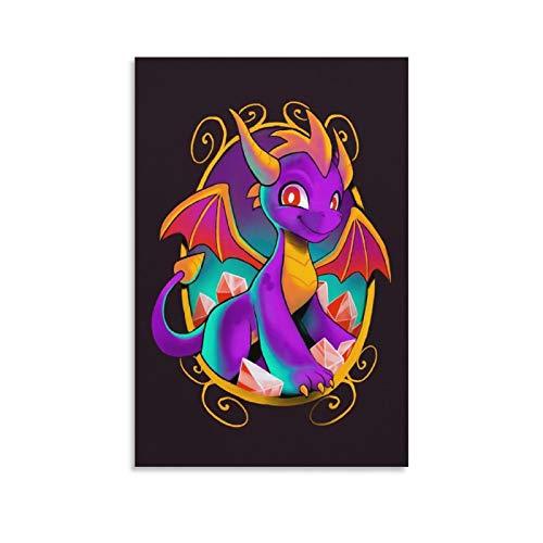 xizhuang 3D-Poster mit Spyro-Drachen-Motiv, Kunstdruck auf Leinwand, modernes Design, 30 x 20 cm