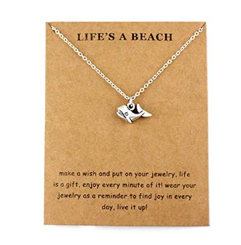 Wal Halskette Charm Anhänger und Kette Urlaub Strand Schmuck Surfen Geschenk
