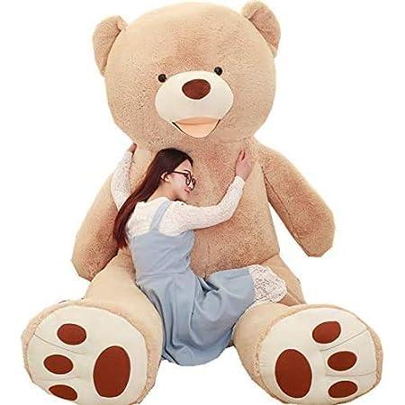 NOVA ぬいぐるみ 特大 くま クマ 熊 テディベア 抱き枕 クッション かわいい だきまくら お祝い プレゼント (ライトブラウン, 160cm)