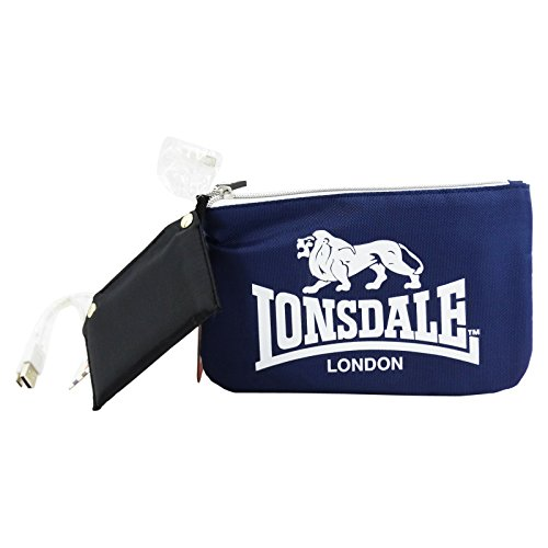Lonsdale London Make Up Bag met Power Bank Toilettas, blauw