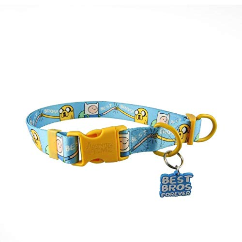 Adventure Time Best Bros! Adjustable Nylon Dog Collar: Large