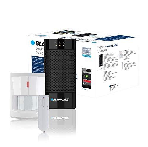 Blaupunkt Smart Home Alarm Q3000 Starter Kit voor huis, woning, winkel, vakantiehuis; Kit bestaande uit: IP-alarmcenter, draadloze bewegingsmelder (IR-S1L), draadloze deur/raamsensor (DC-S1)