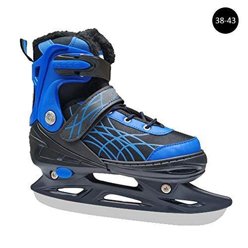 Ridecyle Schlittschuhe für Erwachsene und Kinder, verstellbar, Eishockey, Eishockey, Eiskunstlauf und Eishockey, unisex, blau, 38-43