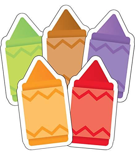 Carson Dellosa – Crayons Colorful Cut-Outs, Classroom Décor, 41 Pieces
