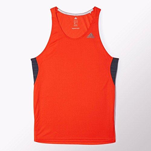 adidas, Maglietta a Giromanica Uomo Supernova, Arancione (Dark Orange), S