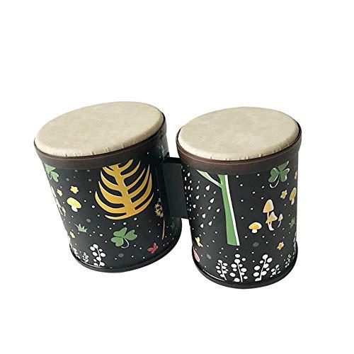 Edge to Bongo Drum 5'-6' Handtrommel für Kinder Montessori Percussion Instrument Music Drum Spielzeug für Babykinder Spezielle Weihnachtsgeburtstagsgeschenk