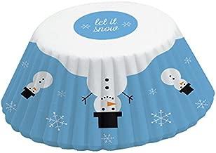 أكواب الخبز Fox Run Brands بعدد 75 قطعة لفصل الشتاء, Snowman, 50 Cups