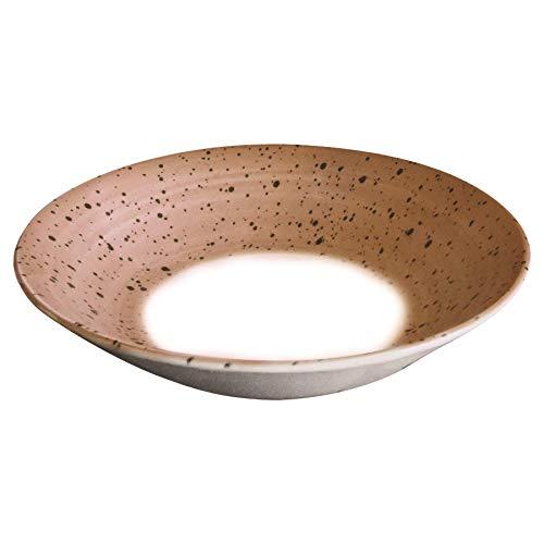 Churchill Hilado Loza Postre Bowl - estampadas pintado Gres Herramientas de Cocina Vajilla - 20cm - terracota