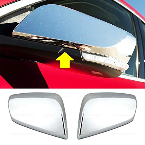 Overun 3-Layers Shiny Chrome Plated Top Half Mirror Covers Designed for 2014-2020 Impala
