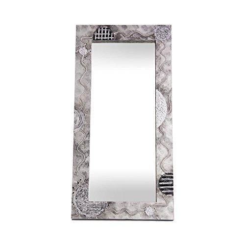 Lohoart L-1128-2 - Espejo Sobre Lienzo Pintado Artesanal