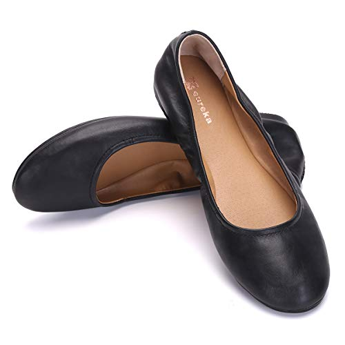 Eureka USA Women's Audrey Leather Ballet Flat