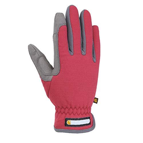 Carhartt Women's Flex Breathable Spandex Work Glove, Wild Rose/Grey, Large