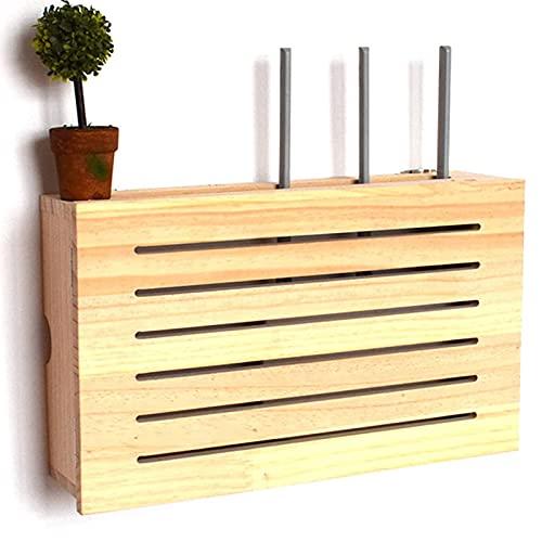 HSSZ Boîte de Rangement de routeur WiFi et Rack de routeur sans Fil, routeur de Rack sans Perforation TV Salon Mural,...