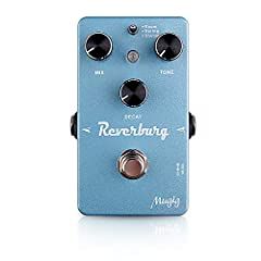 Reverb Effect Pedal: Mixs signals in short delay to make a reverb effect. PT2399 Chip: Low noise, low power consumption. True Bypass: Can turn off effects and let signals pass without loss. Three Knobs: Adjustable Mix/Tone/Decay. Aluminum Alloy Mater...