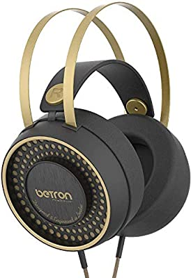 Betron Retro Over Ear Headphones, Noise Isolating, Powerful Ear Phone Set With Bass Driven Sound, Self Adjusting Headband and Comfortable Earpads by Betron