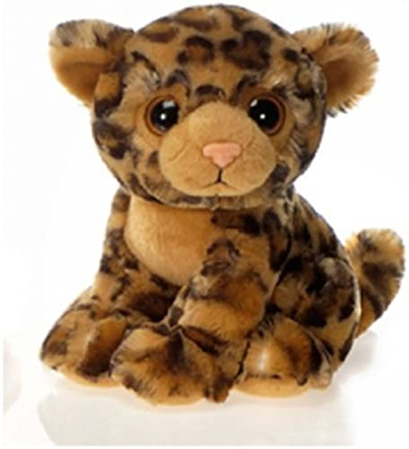 9  Sitting Leopard with Big Eyes Plush Stuffed Animal Toy by Fiesta Toys by Fiesta Toys