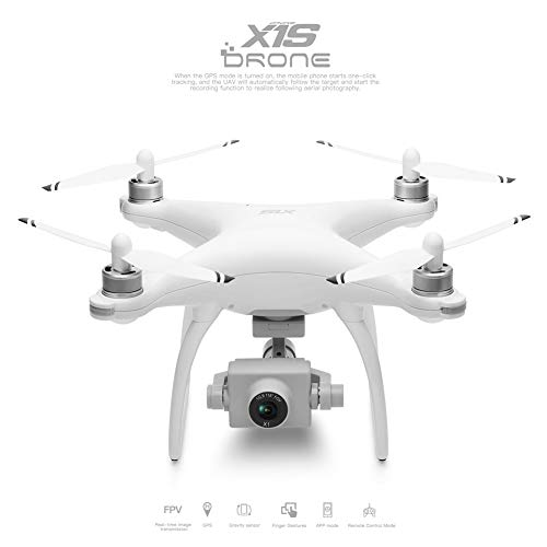 Alician wltoys XK X1 5G WiFi 1080P GPS Antena RC Drone sin escobillas X1S with 2 Batteries