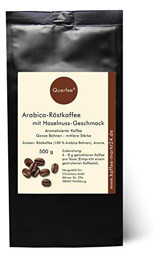 Aromatisierter Kaffee - Haselnuss - Mit Liebe geröstet mit Haselnuss Aroma - Ganze Bohnen (500 g)