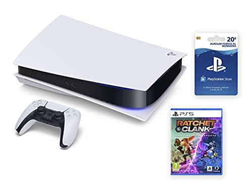 PlayStation 5 - PS5 Standard + Ratchet & Clank + Tarjeta PSN 20 € [Bundle]