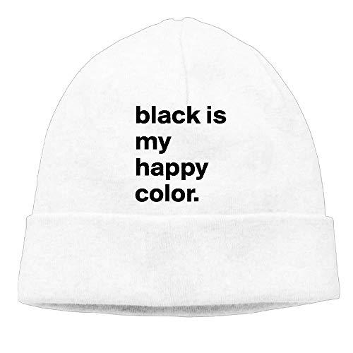 LJKHas232 Men's&Women's Black Is My Happy Color 1-1 Soft Knit Hats