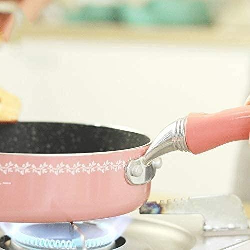 wangYUEQ Sartenes, sartén antiadherente Wok sin wok, olla de huevo frita con cocina de gas general para freír huevos, filete