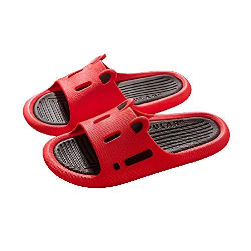 XZDNYDHGX Zapatos De Playa Y Piscina para NiñA,Zapatillas de Verano para Hombre, Interior al Aire Libre, Unisex, Antideslizante, toboganes de baño para Parejas, Sandalias para el hogar, Rojo EU 37-38