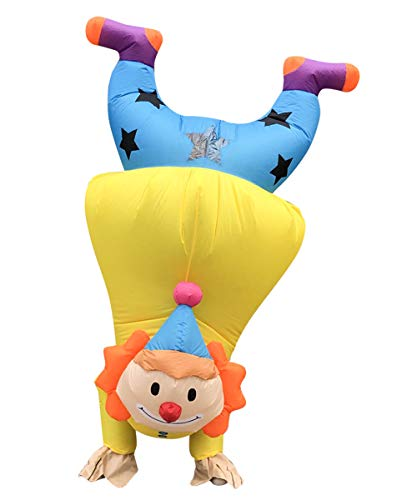 Inflatable Mouse Clown Costume for Adults Halloween Suit Blow Up Fancy Dress (Handstand clown)