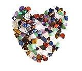 Piedras de cristal natural, mixtas, 7 chakras, en bolsa, alrededor de 100 unidades, peso alrededor de 160 gramos en total, tamaño pequeño
