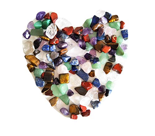 7 pietre dei chakra miste, un sacchetto, circa 100 pezzi, peso: circa 160 grammi in totale, di piccole dimensioni
