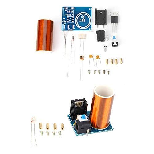 Kit bobina Tesla Mini bobina Tesla LED Kit modulo scintilla a LED Kit elettronico fai-da-te DC12V(Assembly Kit)