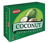 Coconut - Caso di 12 scatole, 10 coni ciascuno - HEM incenso dall'India