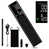 VEEAPE Portable Tire Inflator Air Pump Cordless, Smart Electric Bike Pump with Pressure Gauge LCD, LED Light, 120 PSI Mini Air Compressor Handheld for Car, Bicycles, Motorcycle, Balls