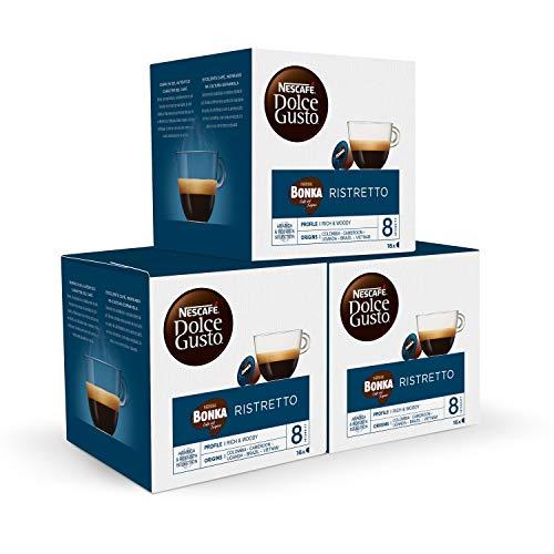 Nescafé DOLCE GUSTO Café BONKA - Pack de 3 x 16 Cápsulas - Total: 48 Cápsulas