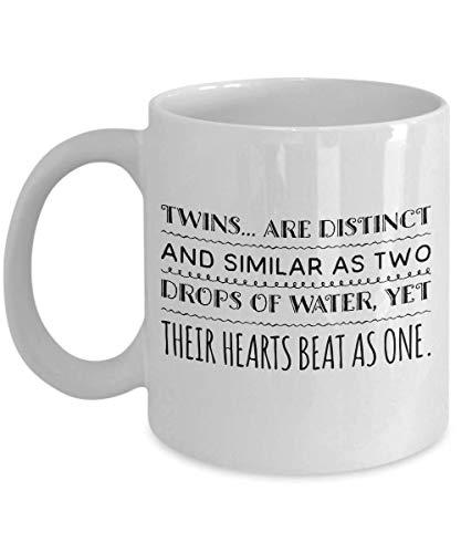 N\A Taza de Gemelos Los Gemelos Son Distintos y similares como Dos Gotas de Agua, Pero Sus Corazones Laten como uno Solo.