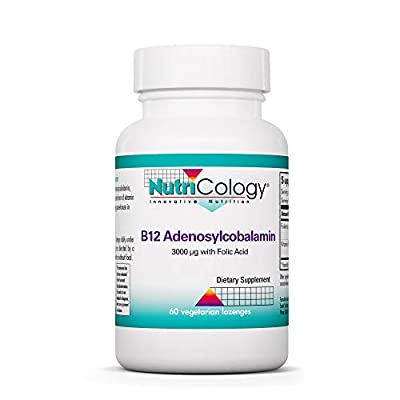 Nutricology/ Allergy Research Group B12 Adenosylcobalamin, 60 lozenges by Nutricology