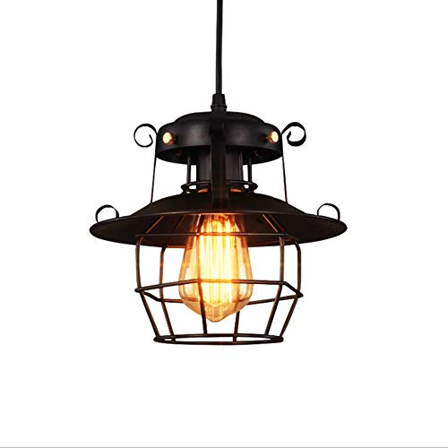 ZGZRXGY Retro Estilo Industrial araña Colgante iluminación para Barra Contador café Restaurante Americano Loft pájaro lámparas de Cocina Individual Creativo Hierro Arte único Cabeza luz