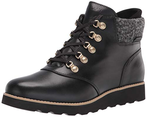 Cole Haan mens Hiking Boot, Black Wp Leather Black Rustic Wool, 7 US