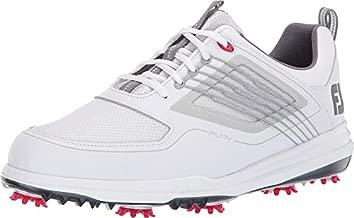 FootJoy Men's Fury Golf Shoes White 10.5 M Red, US