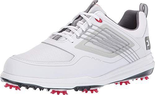 FootJoy Men's Fury Golf Shoes White 7 M Red, US