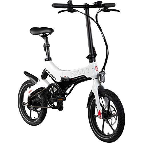Zündapp Z201 16 Zoll Klapprad E-Bike Pedelec Faltrad Elektrofaltrad Elektrofahrrad StVZO (schwarz/weiß)