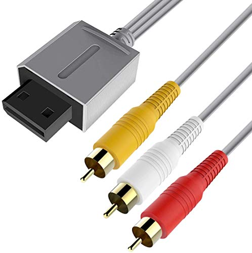 WII Audio Video Kabel,Wii AV Kabel, 6amLifestyle 1,8M Composite TV AV-Kabel Ersatz vergoldetes Draht TV RCA Kabel für Nintendo Wii und Nintendo WII U